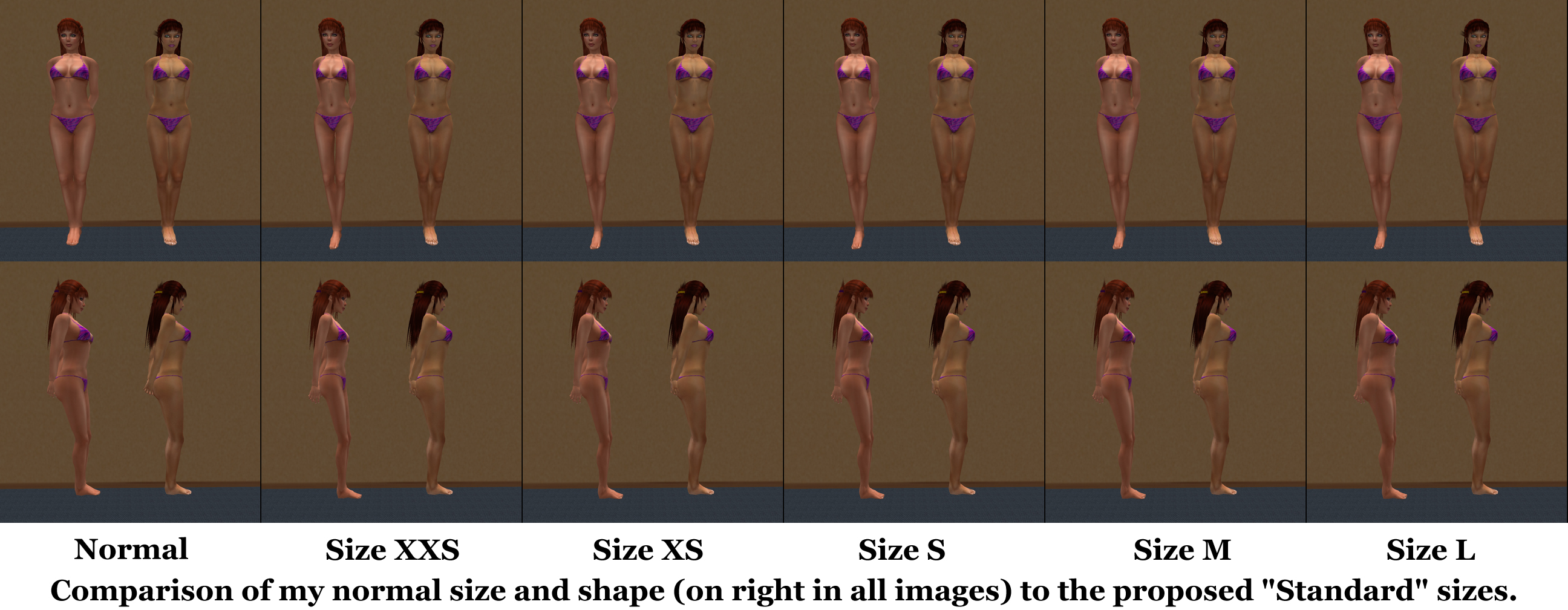 Breast Size Comparison Photos http://www.sluniverse.com/php/vb/general-sl-discussion/66765-standard-sizing-initiative.html